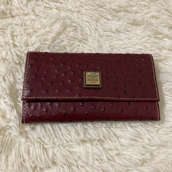 Dooney and Bourke ostrich frame wallet